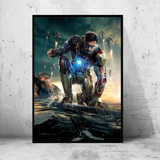 """Постер на ПВХ 3 мм. в раме """"Iron Man"""" (Железный Человек / Тони Старк / Tony Stark) #11"""