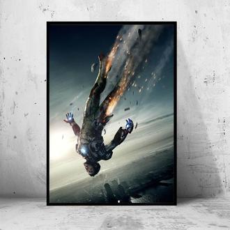 """Постер на ПВХ 3 мм. в раме """"Iron Man"""" (Железный Человек / Тони Старк / Tony Stark) #13"""