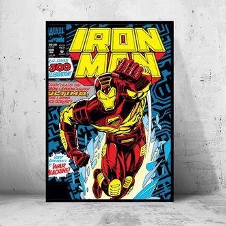 """Постер на ПВХ 3 мм. в раме """"Iron Man"""" (Железный Человек / Тони Старк / Tony Stark) #17"""