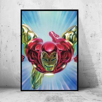 """Постер на ПВХ 3 мм. в раме """"Iron Man"""" (Железный Человек / Тони Старк / Tony Stark) #18"""