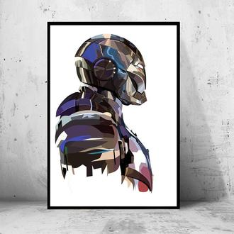 """Постер на ПВХ 3 мм. в раме """"Iron Man: War War Machine"""" ( Железный Патриот / Воитель)"""