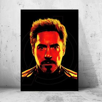 """Постер на ПВХ 3 мм. в раме """"Iron Man"""" (Железный Человек / Тони Старк / Tony Stark) #24"""