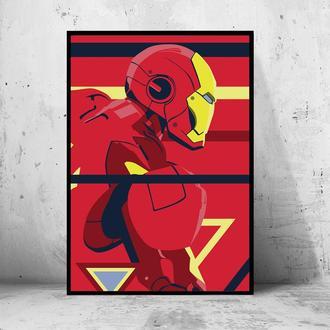 """Постер на ПВХ 3 мм. в раме """"Iron Man"""" (Железный Человек / Тони Старк / Tony Stark) #25"""