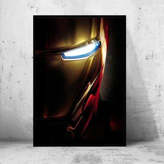 """Постер на ПВХ 3 мм. в раме """"Iron Man"""" (Железный Человек / Тони Старк / Tony Stark) #29"""