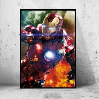 """Постер на ПВХ 3 мм. в раме """"Iron Man"""" (Железный Человек / Тони Старк / Tony Stark) #31"""