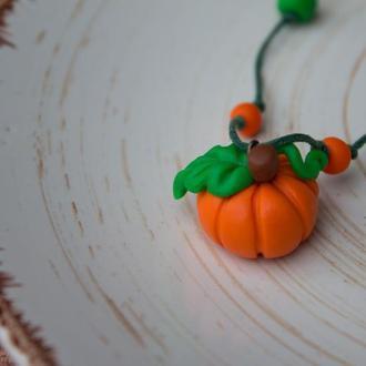 Осенний кулон тыковка к Хеллоуину