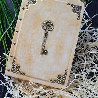 Блокнот с ключом, винтажный блокнот