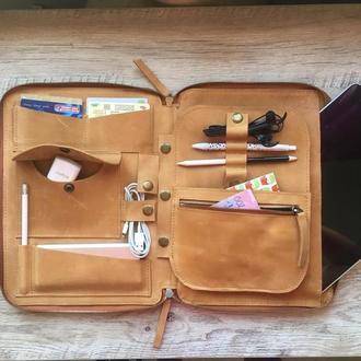Кожаная Сумка органайзер для ноутбука