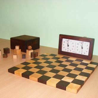 Шахматы, шахматная доска, шахматные часы. Bauhaus. Конструктивизм