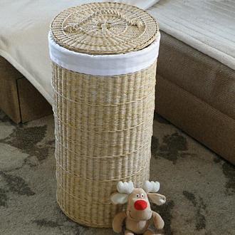 Плетеная корзина с чехлом