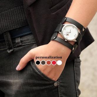 Кожаный ремешок для часов, код 5085