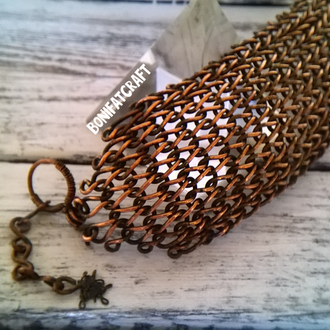 Wirewrap медный браслет из проволоки