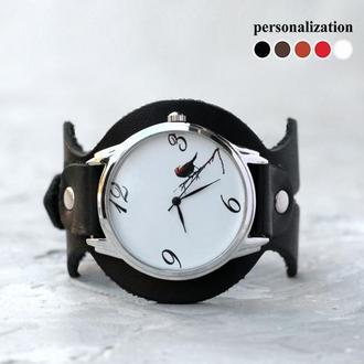Женский кожаный ремешок для часов, код 5300