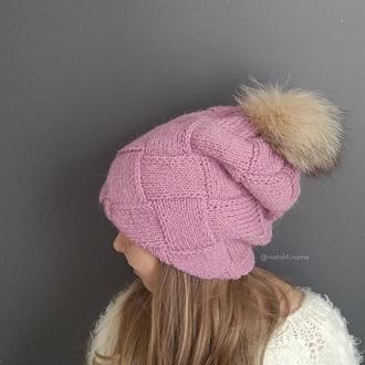 Двойная шапка Энтерлак (розовая)