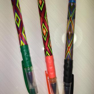 Ручка плетеная нитками