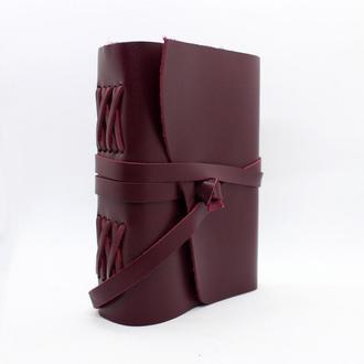 Кожаный женский блокнот