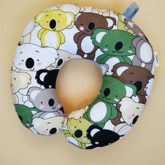 Дорожная подушка - коала Киев, подушка для путешествий - коалы Киев, подушка для шеи - коалы Киев