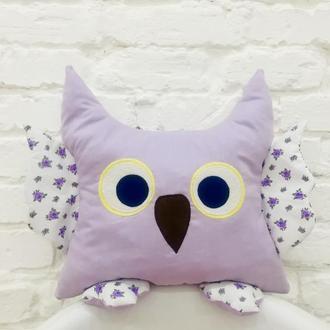 сова подушка-детская игрушка для сна-подушка сплюшка-подарки для детей-декор в детскую