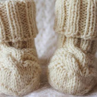 Носочки из шерсти альпаки