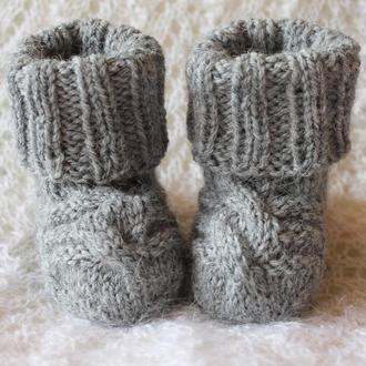 Серые носочки из альпаки