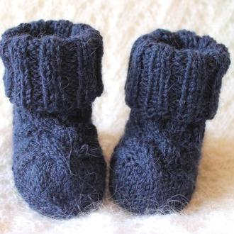 Синие носочки из альпаки