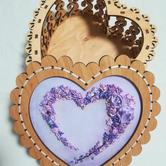 Шкатулка деревянная Сердце
