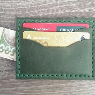 Мужской картхолдер под автодокументы и деньги из натуральной кожи ручной работы Revier