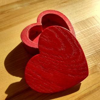 Шкатулка для обручальных колец серце