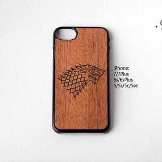 Чехол в стиле Games of thrones для iPhone 7/7Plus/6s/6sPlus/5/5s/5c/5se/4/4s