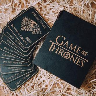 Games of thrones подстаканники, Набор 9 штук подстаканники