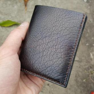 Кожаный компактный кошелёк