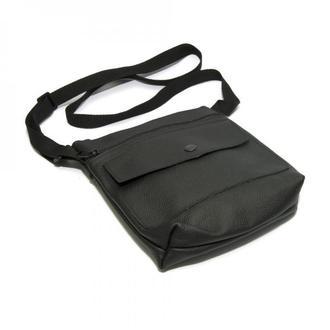Чкіряна чорна сумка на плече, Кожаная черная сумка на плече