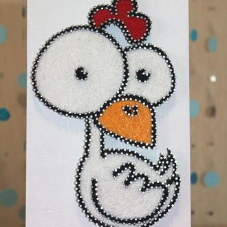 Курица в стиле Стринг Арт