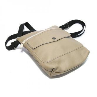Бежева шкіряна чоловіча сумка, Бежевая кожаная мужская сумка