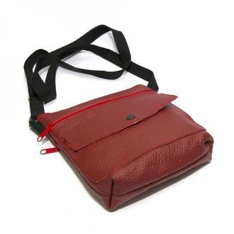 Червона шкіряна чоловіча сумка на плече, Красная кожаная мужская сумка на плечо