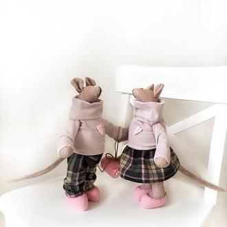 Символ 2020 года мышь крыса мышка тильда подарок на Новый год Рождество новогодняя игрушка