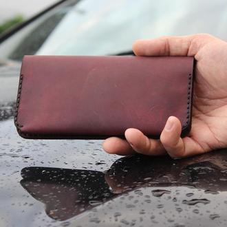 Шкіряний чохол-портмоне для смартфона ручної роботи для iPhone, Huawei, Lenovo, Samsung, Xiaomi