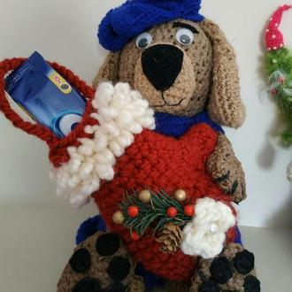 Новогодняя рукавичка для подарков