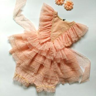 Нежное воздушное платье на годик