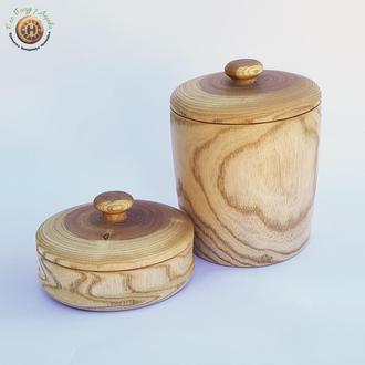 Набір дерев'яних ємностей з ясена
