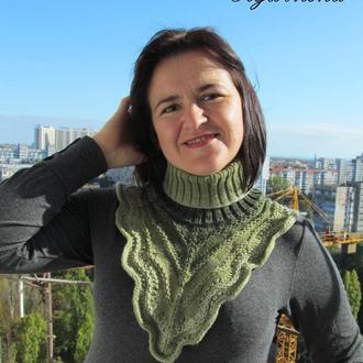"""Манишка женская """"Дарина"""" зеленая"""