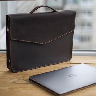 Кожаная сумка (портфель) для ноутбука