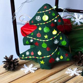 Эко игрушка елка для декора и подарка на Новый год.Новогодний подарок