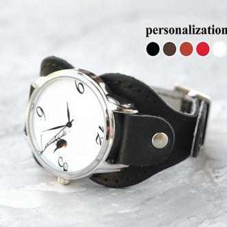 Кожаный ремешок для часов, код 5325ст