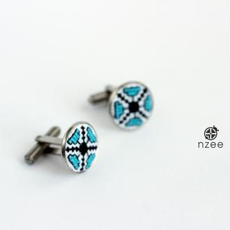 Запонки / Запонки с вышивкой