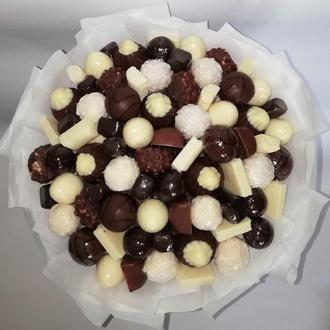 """Шоколадный букет """"Радость сладкоежки"""" (букет из конфет)"""
