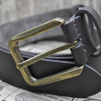 Темно-коричневый кожаный ремень REM04-38mm