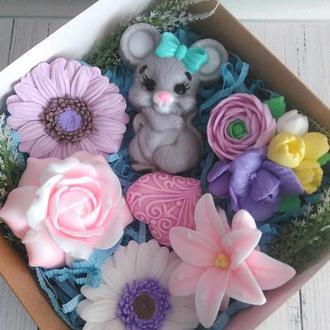 """Подарочный набор из мыла """"Мышкин праздник"""""""