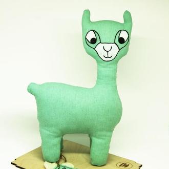 Эко игрушка лама/ Органические льняные игрушки  для детей