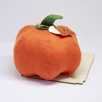 Эко игрушка тыква для декора Органические игрушки для детей и взрослых Осенний подарок